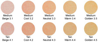 Medium and Tan Mineral Foundations
